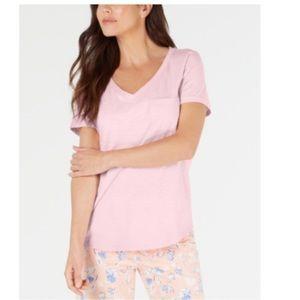Charter Club Intimates Pink Pajama Tee